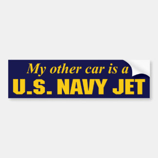 U.S. Navy Jet Bumper Sticker