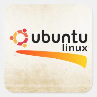 Ubuntu Linux Open Source Square Sticker
