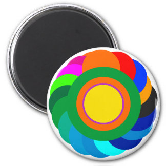 !   UCreate with Color Circles Solid SqCircleTran2 6 Cm Round Magnet