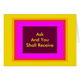 ! UCreate Zazzle - Ask You Receive The MUSEUM Greeting Card