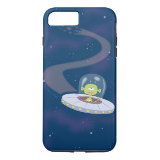 UFO flying through space iPhone 8 Plus/7 Plus Case