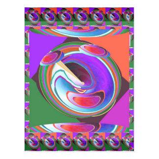 UFO graphic design Postcard