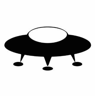 UFO Spaceship Standing Photo Sculpture