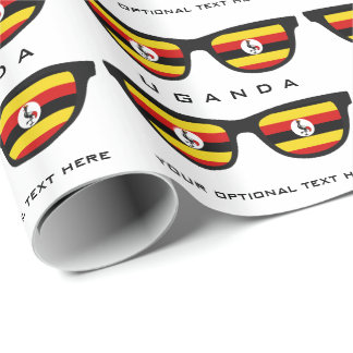 Uganda Shades custom text & color gift wrap Wrapping Paper