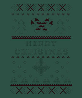 Ugly Christmas Sweater Candy Cane Merry Christmas Tee Shirt