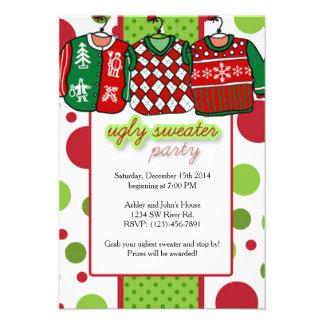Ugly Christmas Sweater Party Custom Invitation