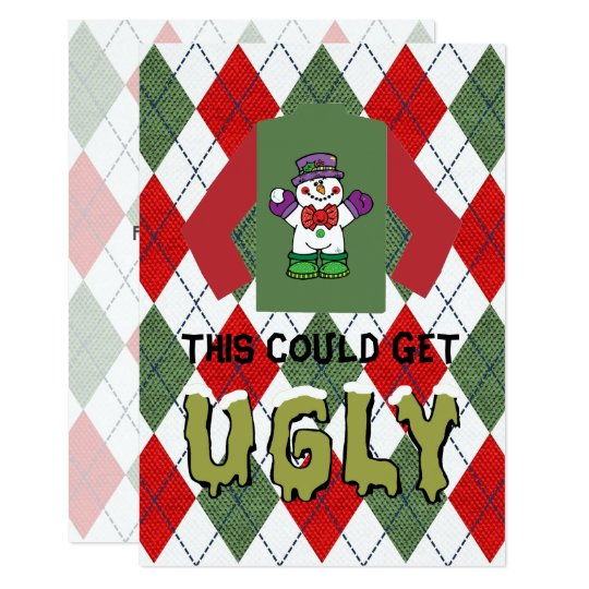 Ugly Sweater Christmas Party Card