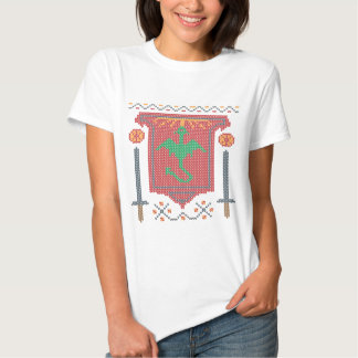 Ugly Sweater Fire Breathing Dragon Tee Shirts