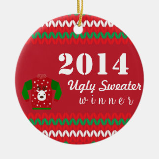 Ugly Sweater Winner Christmas Ornament