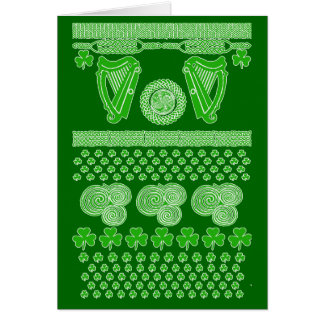 Ugly Xmas Sweater for St. Patrick's Day Card