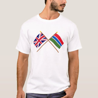 UK and Gambia Crossed Flags T-Shirt