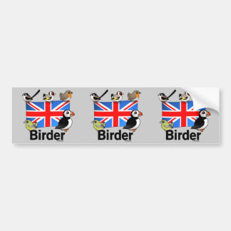 UK Birder Bumper Sticker