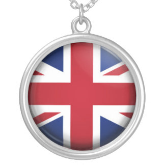 UK flag Silver Plated Necklace