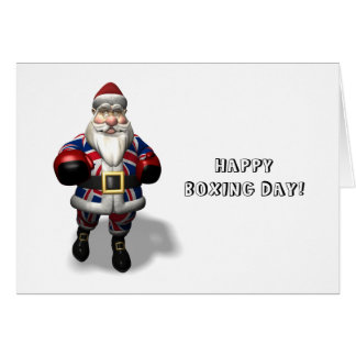 UK Santa Claus On Boxing Day Greeting Card