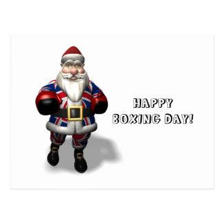 UK Santa Claus On Boxing Day Postcard