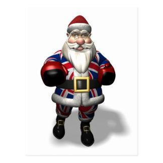 UK Santa Claus On Boxing Day Post Card
