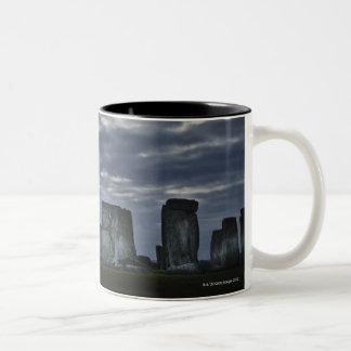 UK, Stonehenge, Scenic view at dawn Two-Tone Coffee Mug