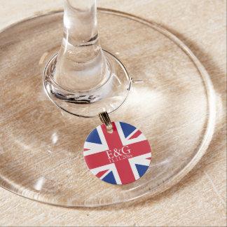 UK Union Jack Flag British Wedding Wine Charm