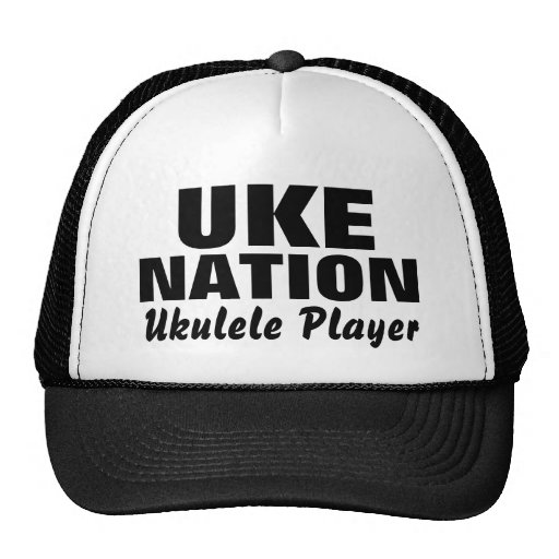 UKE, NATION, Ukulele Player Mesh Hat