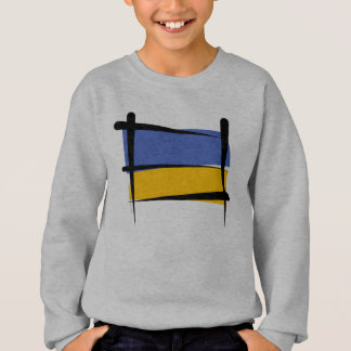 Ukraine Brush Flag Sweatshirt