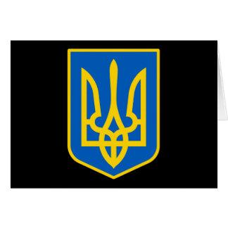 UKRAINE COAT OF ARMS CARD