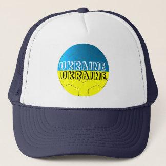Ukraine flag football soccer hat