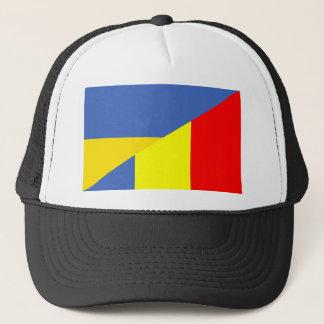 ukraine romania flag country half symbol trucker hat