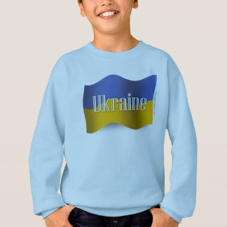 Ukraine Waving Flag Sweatshirt