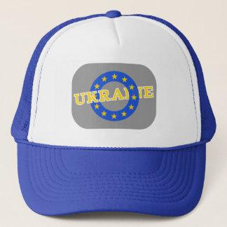 Ukraine with European Union stars Trucker Hat