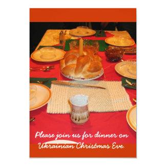 Ukrainian Christmas Dinner 5x7 Paper Invitation Card