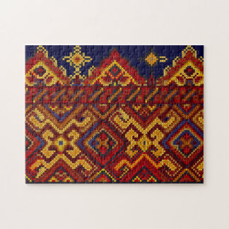 Ukrainian Cross Stitch Embroidery Jigsaw Puzzle