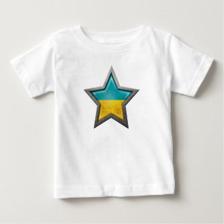Ukrainian Flag Star Baby T-Shirt