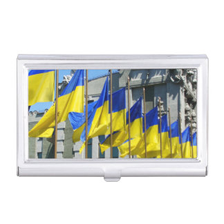 Ukrainian Flags Case For Business Cards