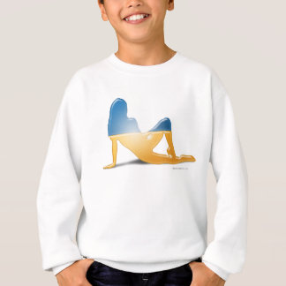 Ukrainian Girl Silhouette Flag Sweatshirt