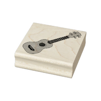 Ukulele Rubber Stamp