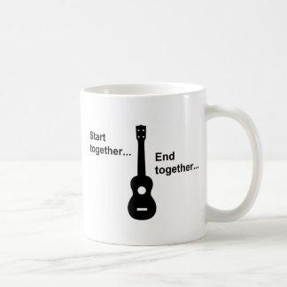 Ukulele Start Together... Basic White Mug