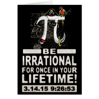 Ultimate Irrational Pi Day Pirate Card
