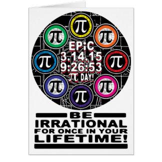 Ultimate Memorial for Epic Pi Day Symbols Card