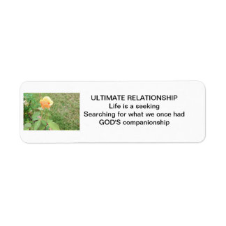 Ultimate Relationship Yellow Rose Label Return Address Label