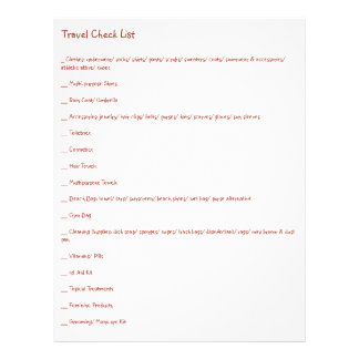Ultimate Travel Check List for Every Kind of Trip Flyer