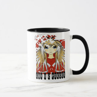 Ultra Cute Anime Girl Love You to Pieces Mug