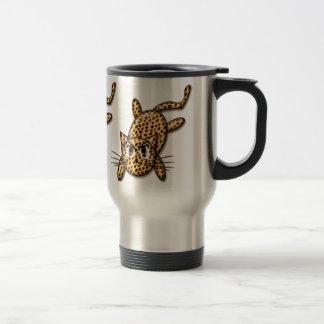 Ultra Cute Anime Leopard Kitty Coffee Mugs