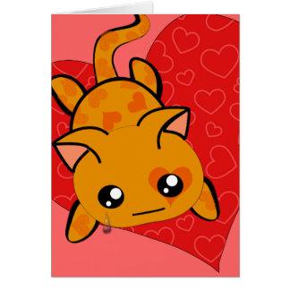 Ultra Cute Kawaii I'm Sorry Kitty Cat with Tear Card