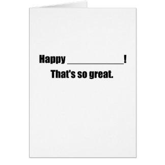 Ultra Generic Greetings Card