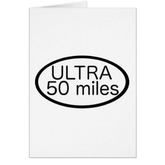 Ultra Marathon Card