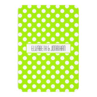 Ultra Modern Green Polka Dot Wedding RSVP Card