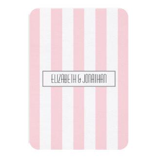 Ultra Modern Pink Stripe Wedding RSVP Card