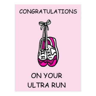 Ultra run Congratulations. Postcard