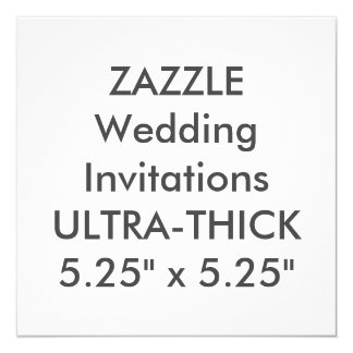 "ULTRA-THICK 360lb 5.25"" Square Wedding Invitations"