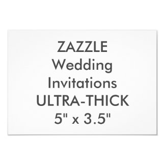 "ULTRA-THICK 360lb 5"" x 3.5"" Wedding Invitations"